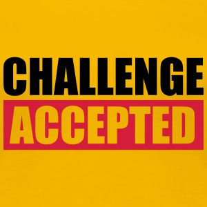 Challenge Accepted Text Logo T-Shirts - Women's Premium T-Shirt