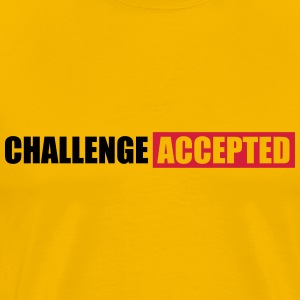 Challenge Accepted Text Design T-Shirts - Men's Premium T-Shirt
