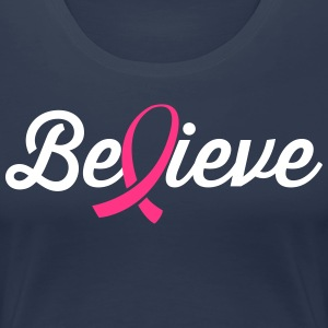 Believe Ribbon T-Shirts - Women's Premium T-Shirt