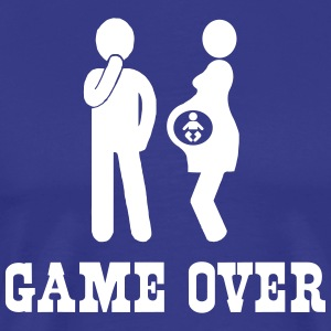 Game Over Pregnancy T-Shirts - Men's Premium T-Shirt