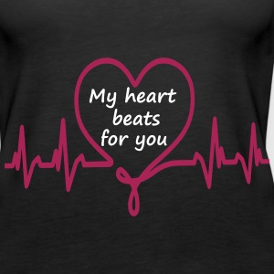 My heart beats for you - Frauen Premium Tank Top
