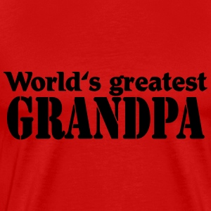 World's greatest Grandpa T-shirts - Mannen Premium T-shirt