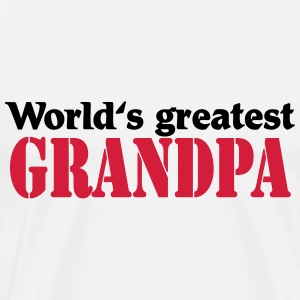 World's greatest Grandpa T-skjorter - Premium T-skjorte for menn
