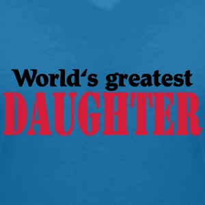 World's greatest Daughter T-shirts - T-shirt med v-ringning dam