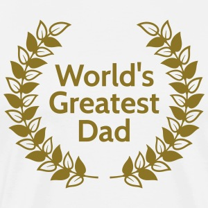 Greatest Dad største far T-shirts - Herre premium T-shirt