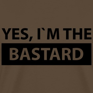 yes i´m the bastard T-Shirts - Männer Premium T-Shirt