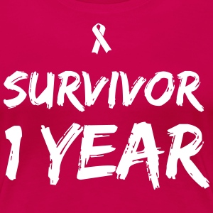 Survivor - 1 Year T-Shirts - Women's Premium T-Shirt