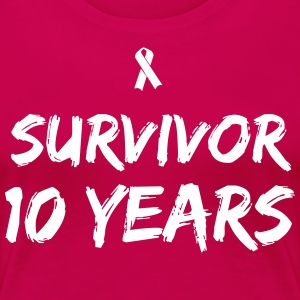 Survivor - 10 Years T-Shirts - Women's Premium T-Shirt