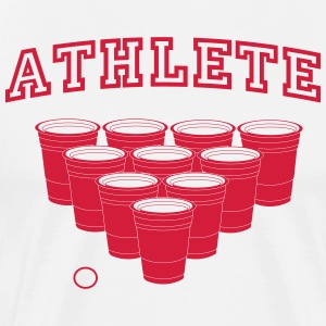 Beer Pong Athlete T-Shirts - Men's Premium T-Shirt