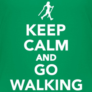 Keep calm and go walking T-Shirts - Kinder Premium T-Shirt