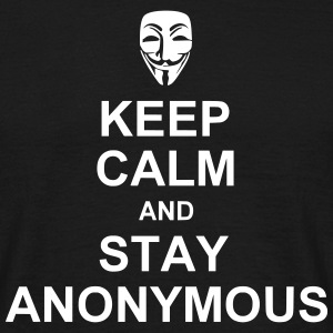keep calm and stay anonymous T-shirts - Mannen T-shirt