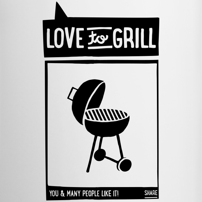 love to grill - becher