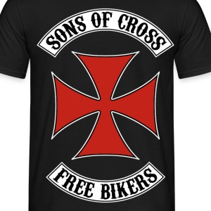 sons of cross free bikers 02 T-Shirts - Men's T-Shirt