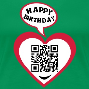 25 years big kisses code qr happy birthd T-Shirts - Frauen Premium T-Shirt