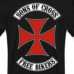 sons of cross free bikers 02 T-Shirts - Men's Ringer Shirt