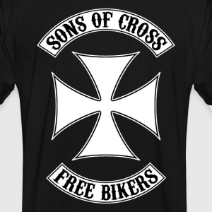 sons of cross free bikers Tee shirts - T-shirt contraste Homme