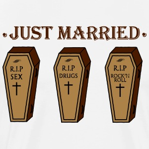 JUST MARRIED Tee shirts - T-shirt Premium Homme