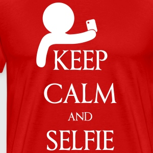 Keep calm and Selfie T-shirts - Herre premium T-shirt