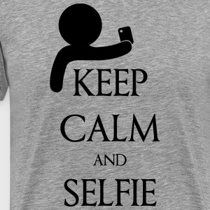 Keep calm and Selfie T-shirts - Premium-T-shirt herr