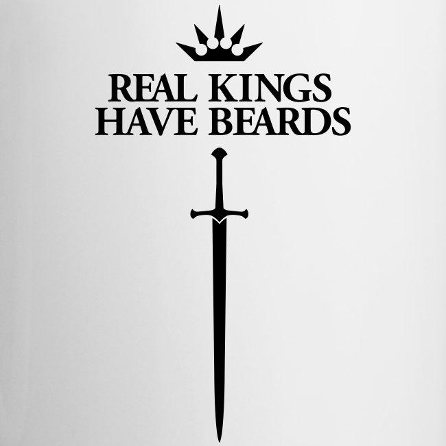 Real Kings Have Beards - Multi-color Coffee Mug