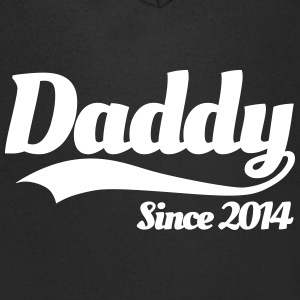 Daddy Since 2014 T-Shirts - Men's V-Neck T-Shirt