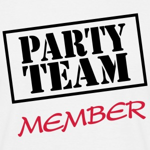 Party Team Member T-shirts - Mannen T-shirt