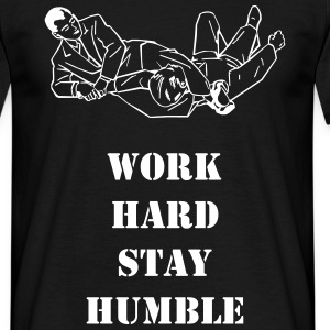 Work hard stay humble retro - T-shirt herr