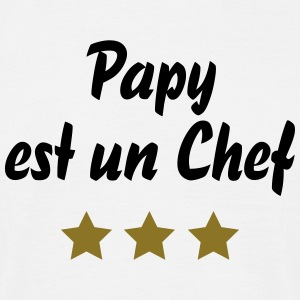 papy chef 3 etoiles Tee shirts - T-shirt Homme