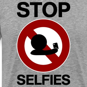 stop selfies prohibition sign T-Shirts - Men's Premium T-Shirt