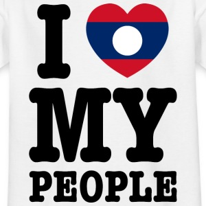 I Heart (Love) My Lao People Shirts - Kids' T-Shirt