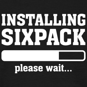 Installing Sixpack (Please wait) T-skjorter - T-skjorte for menn