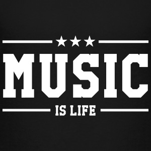 Music is life Skjorter - Premium T-skjorte for tenåringer
