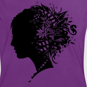 A girl with hair jewelry  T-Shirts - Women's Ringer T-Shirt