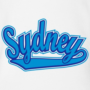 Sydney - T-shirt personalised with your name Shirts - Organic Short-sleeved Baby Bodysuit