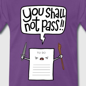 Violet You shall not pass Tee shirts - T-shirt Premium Homme