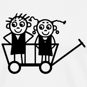 Children in carts T-Shirts - Men's Premium T-Shirt