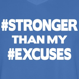 Stronger Than My Excuses T-shirts - Mannen voetbal shirt