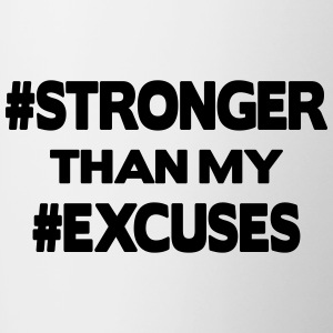 Stronger Than My Excuses Bottles & Mugs - Contrasting Mug