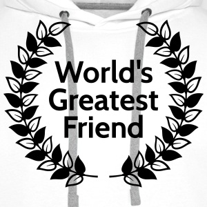 worlds greatest friend meilleur ami de mondes Sweat-shirts - Sweat-shirt à capuche Premium pour hommes