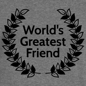 worlds greatest friend Hoodies & Sweatshirts - Women's Boat Neck Long Sleeve Top