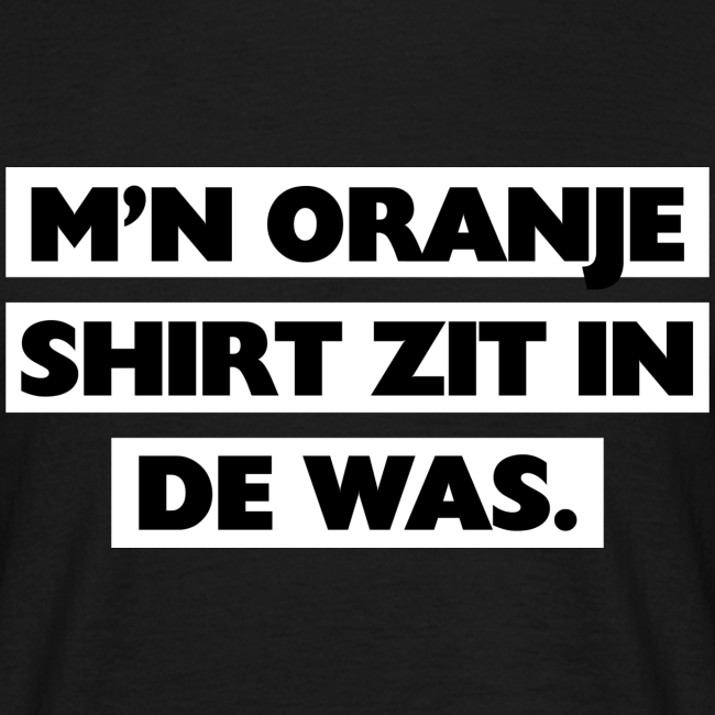 In de was mannen t-shirt