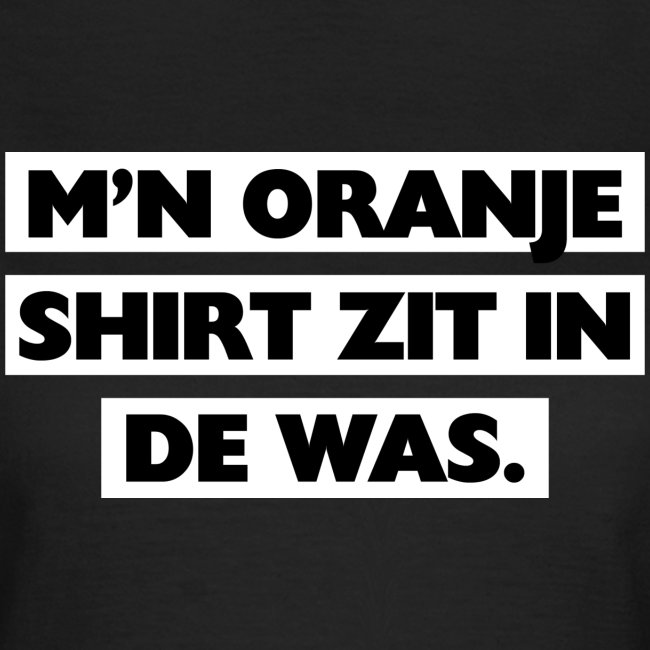 In de was vrouwen t-shirt