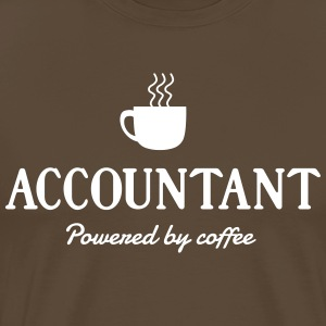 Accountant Powered by Coffee T-Shirts - Men's Premium T-Shirt