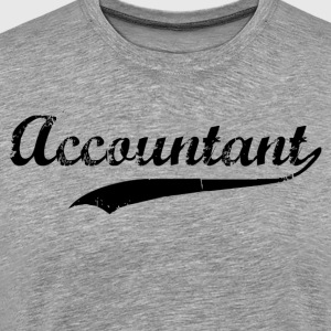 Accountant Swoosh  T-Shirts - Men's Premium T-Shirt