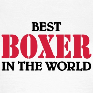 Best Boxer in the World T-shirts - Dame-T-shirt