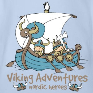 Viking Adventures - Nordic Heroes - Organic Short-sleeved Baby Bodysuit