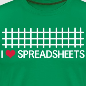 I Love Spreadsheets T-Shirts - Men's Premium T-Shirt