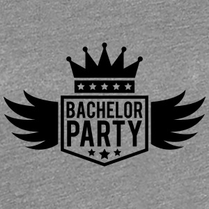 Bachelor in vleugel Crown banner T-shirts - Vrouwen Premium T-shirt