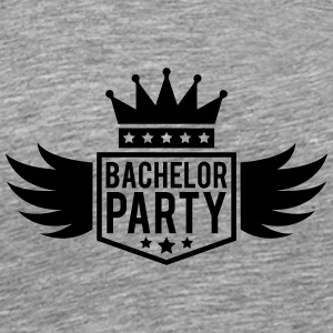 Bachelor in vleugel Crown banner T-shirts - Mannen Premium T-shirt