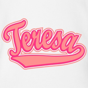 Teresa - T-shirt personalised with your name Shirts - Organic Short-sleeved Baby Bodysuit